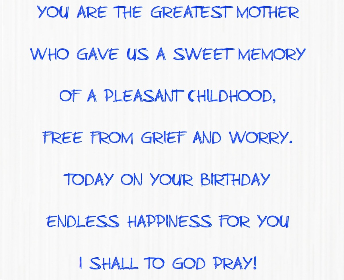 A poem for mom on her birthday