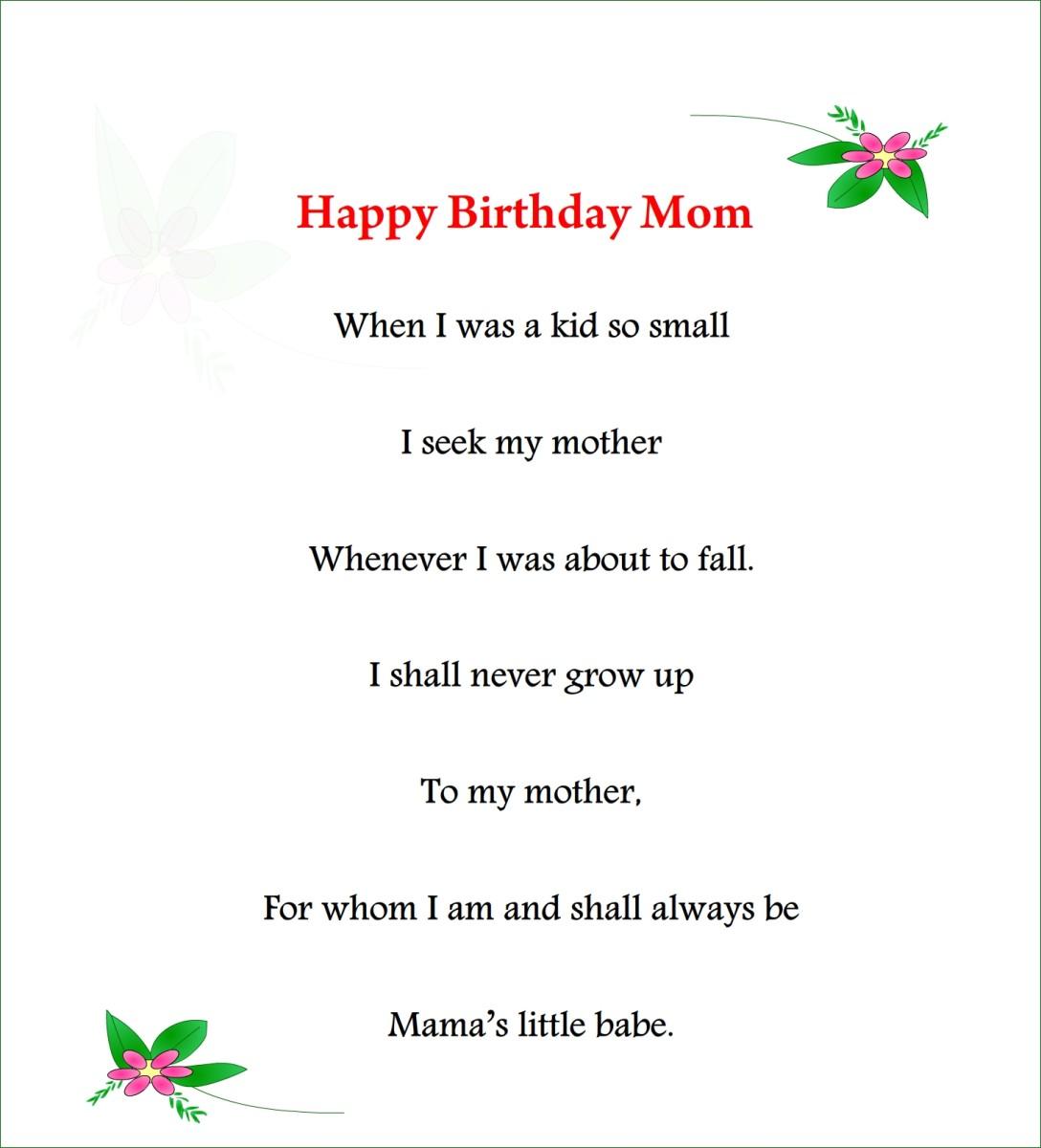 happy birthday mom poem