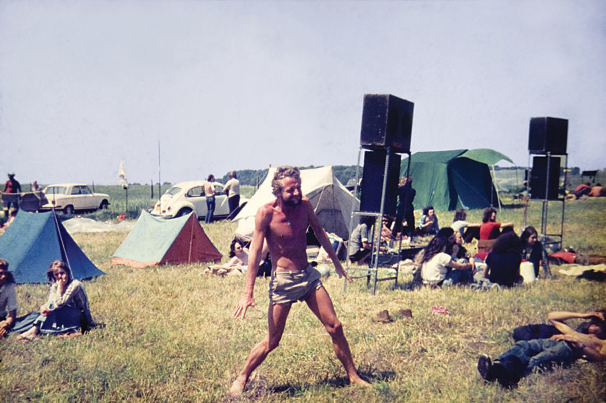 Wally Hope at Stonehenge 1974
