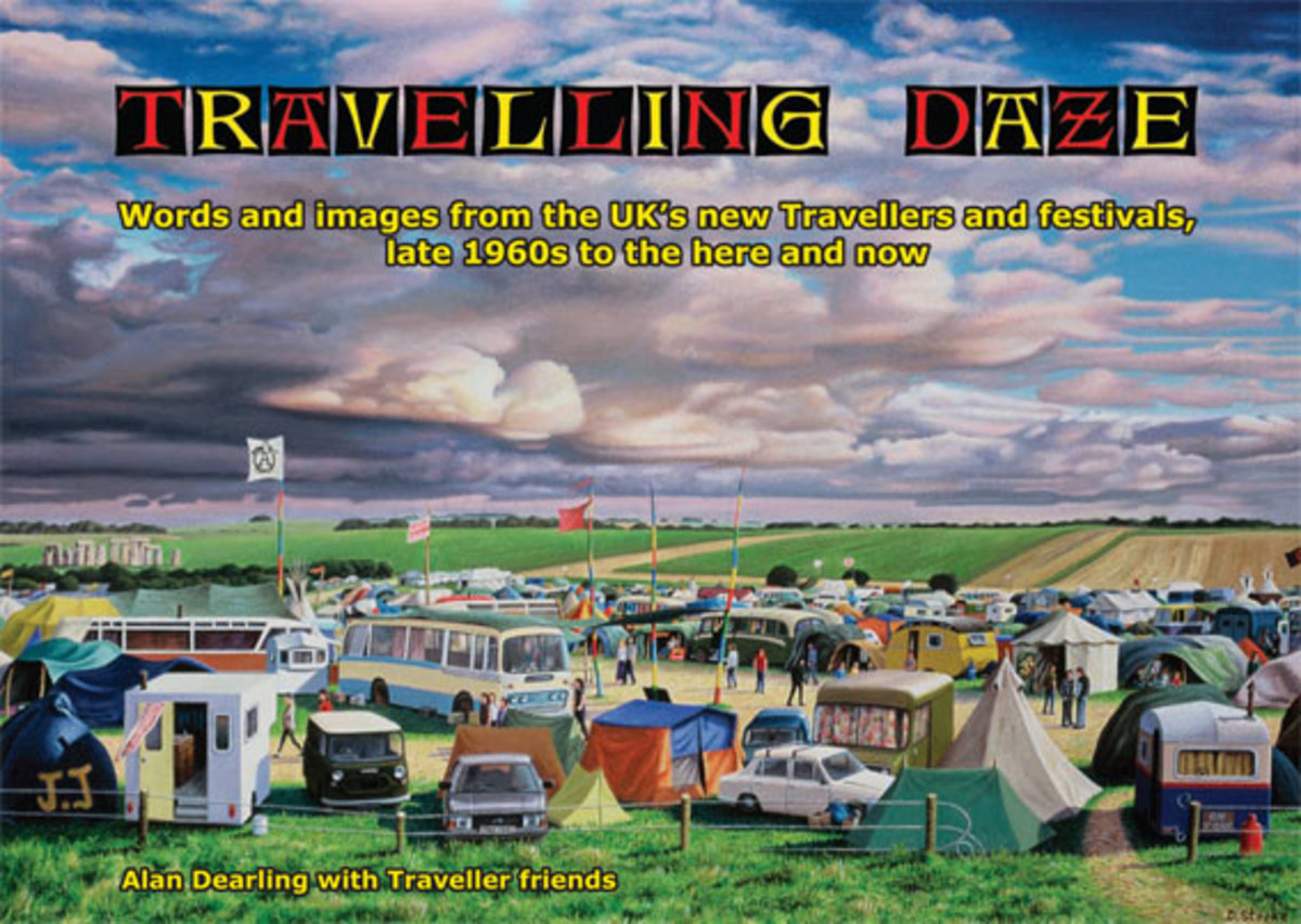 The front cover of Travelling Daze by Alan Dearling & friends