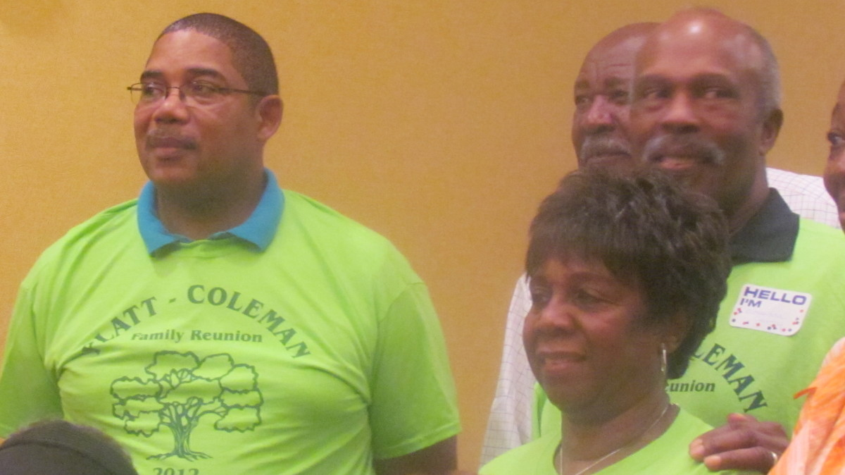 My sister Earlene, her husband Alexander and my husband Walker, attended the reunion as well.
