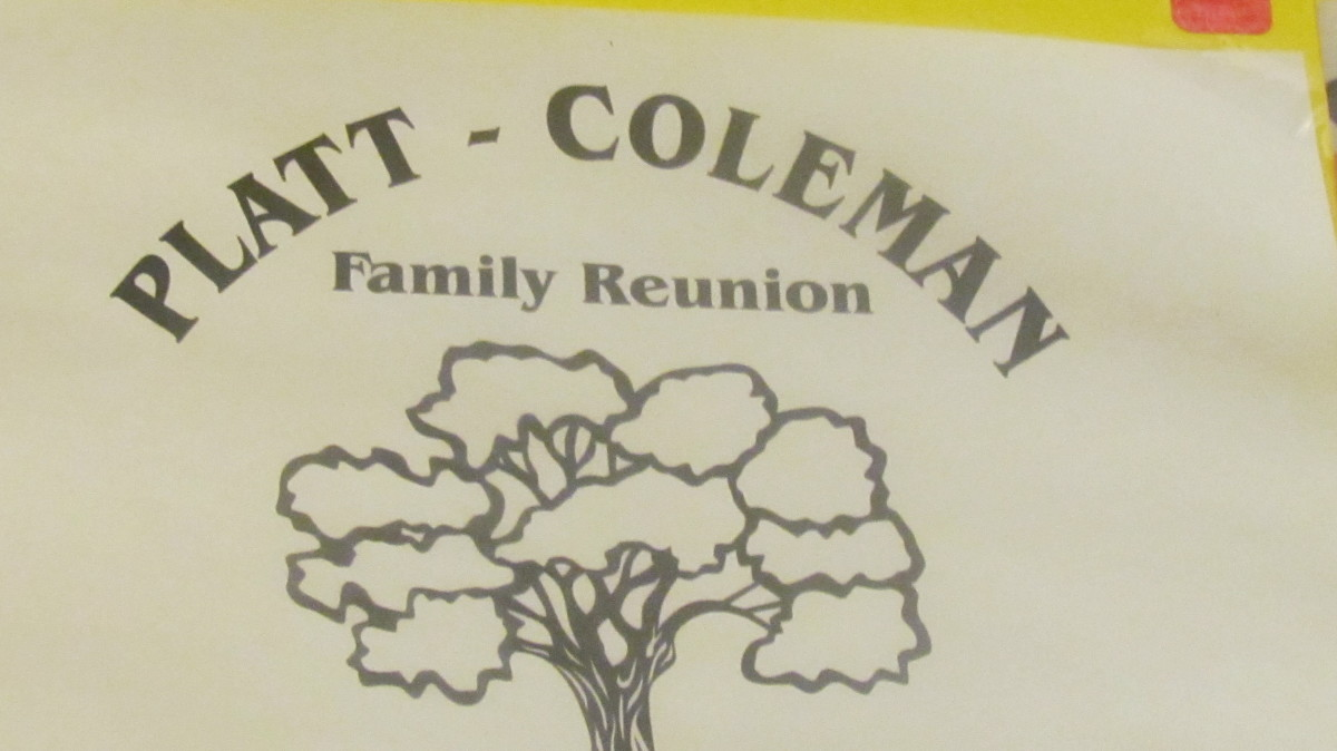 A family tree was displayed with extensions of various branches for the continuous growth of the Platt/Coleman family.