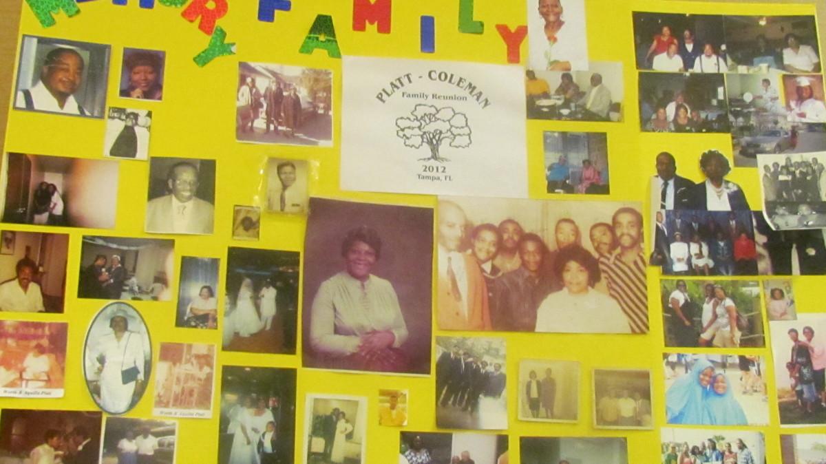 A beautiful display of various deceased members of the Coleman/Platt family.