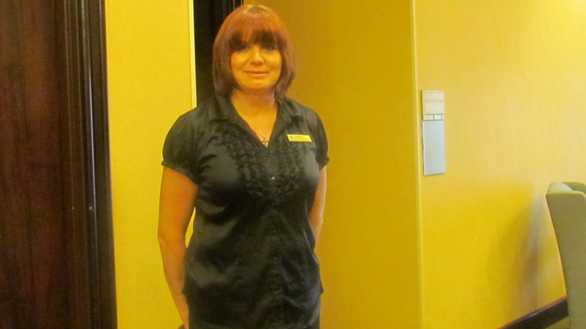 Carmen Blackburn, Banquet Supervisor that was extremely attentive to our needs during the reunion.