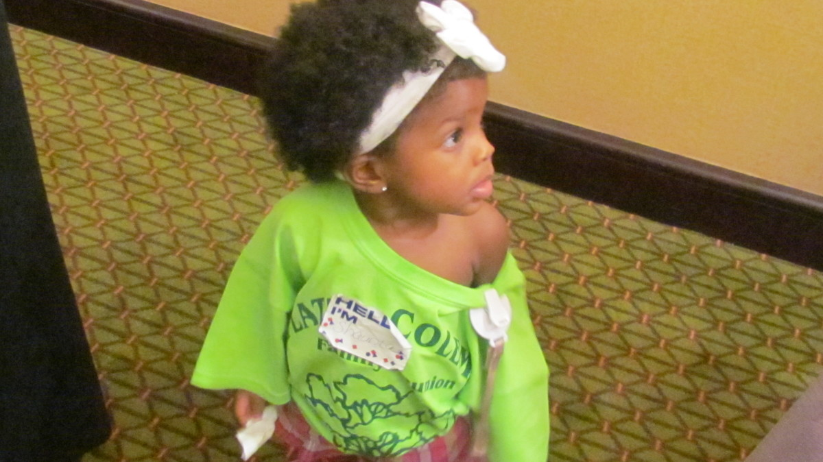 Chante, Willie's greatgrand was one of the youngest members to attend our reunion.