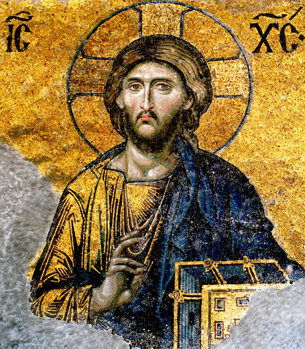 Jesus Christ mosaic, Hagia Sophia.