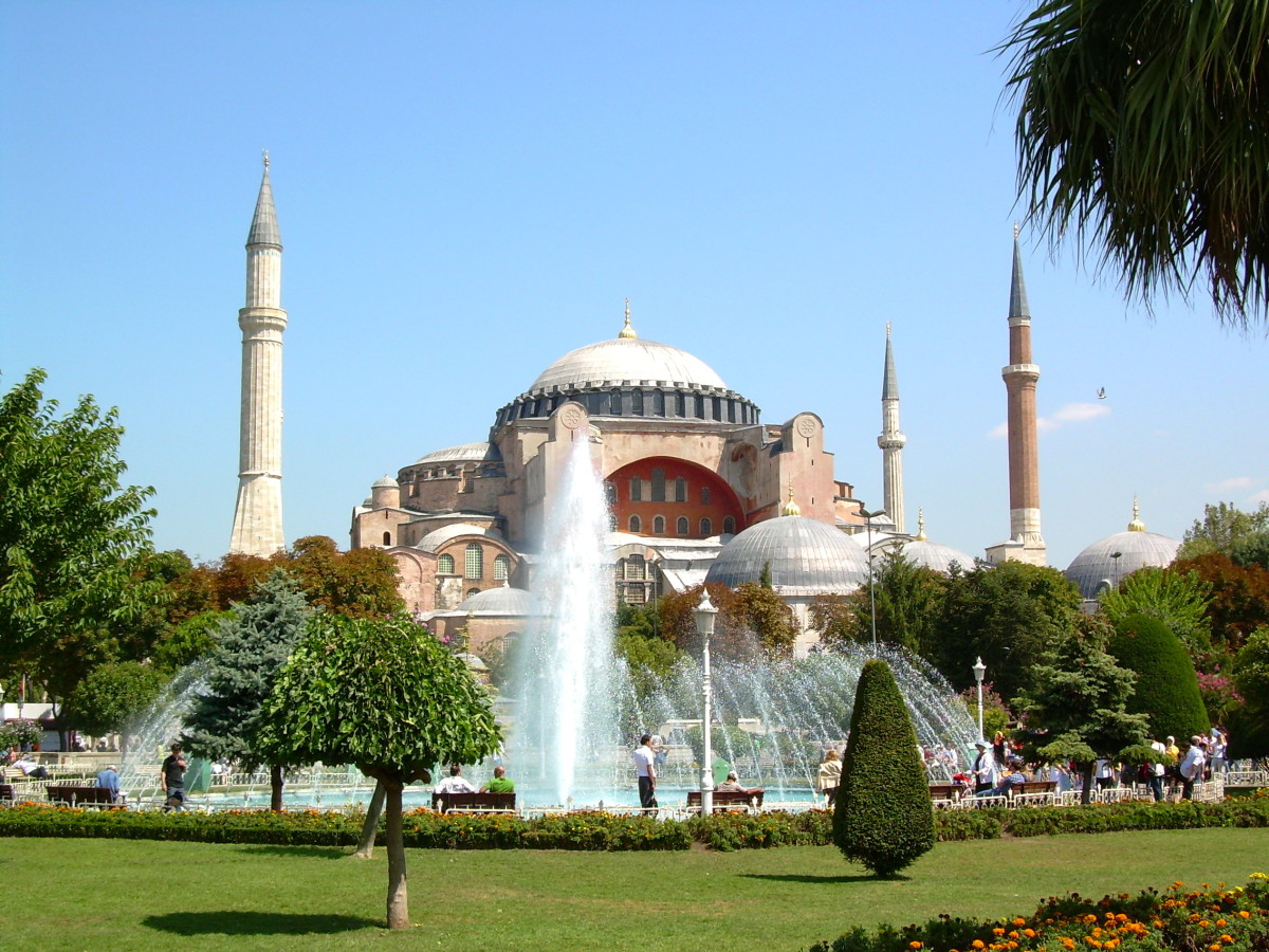 Hagia Sophia --  Christian basilica and Islamic mosque -- one of the greatest architectural wonders of antiquity