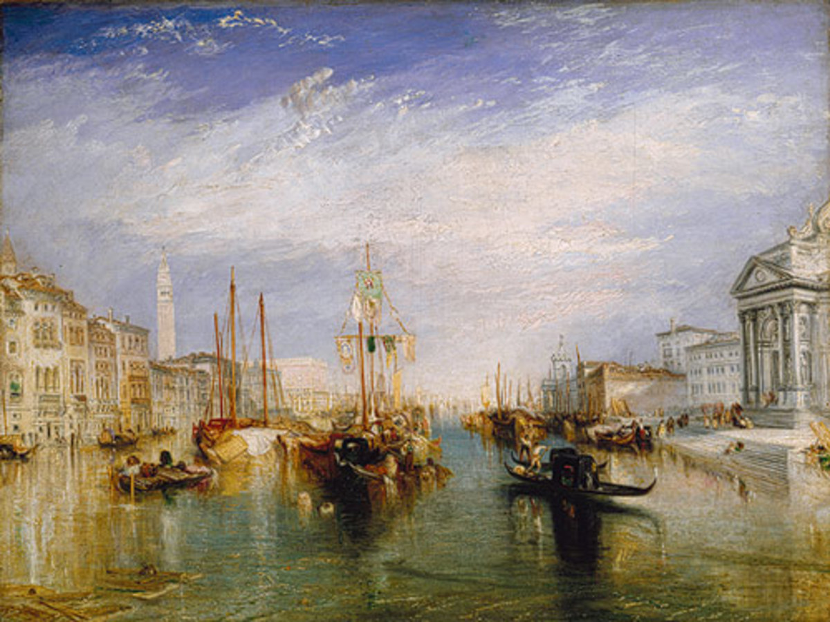 Grand Canal in Venice, painted from sketches made on site