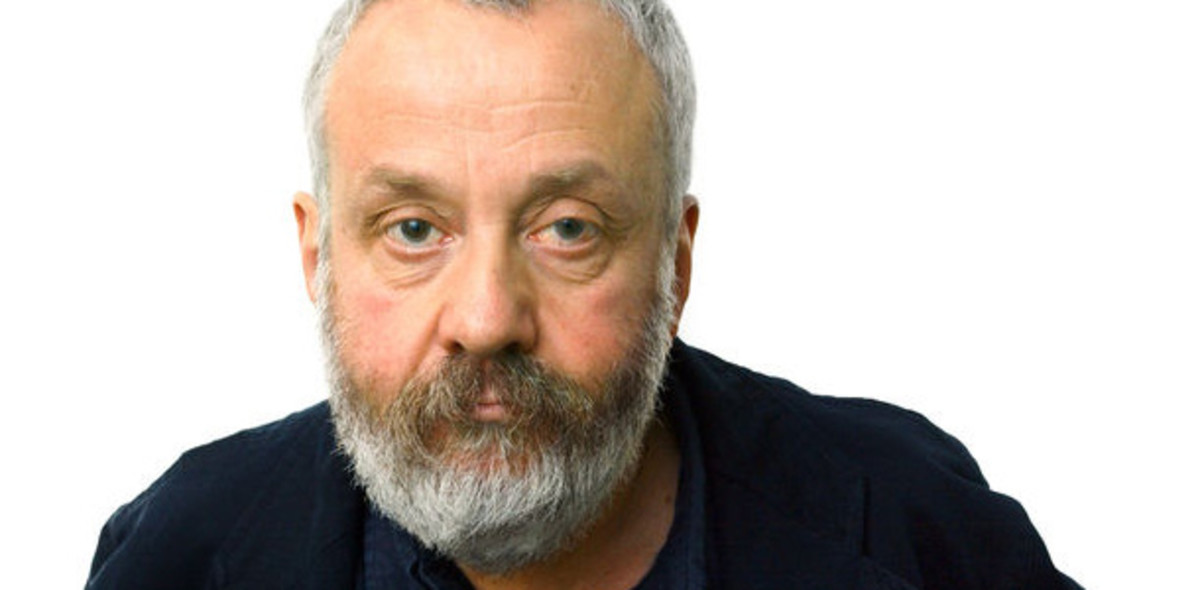 Director Mike Leigh poses for the camera, more used to being at the back of the camera, overseeing progress of his films.