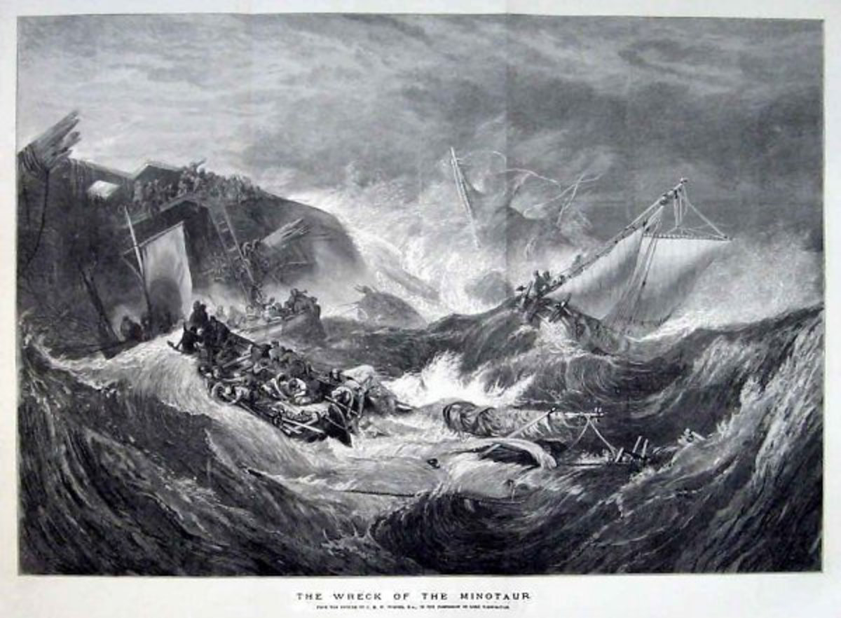 Turner etch print 'The Wreck of the Minotaur'