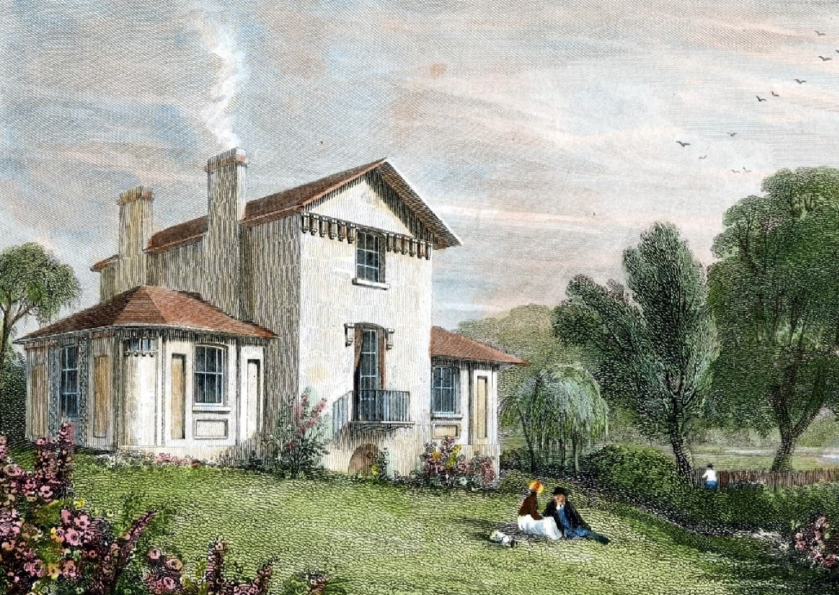 This is Sandycombe Lodge, where Turner and his father lived for many years