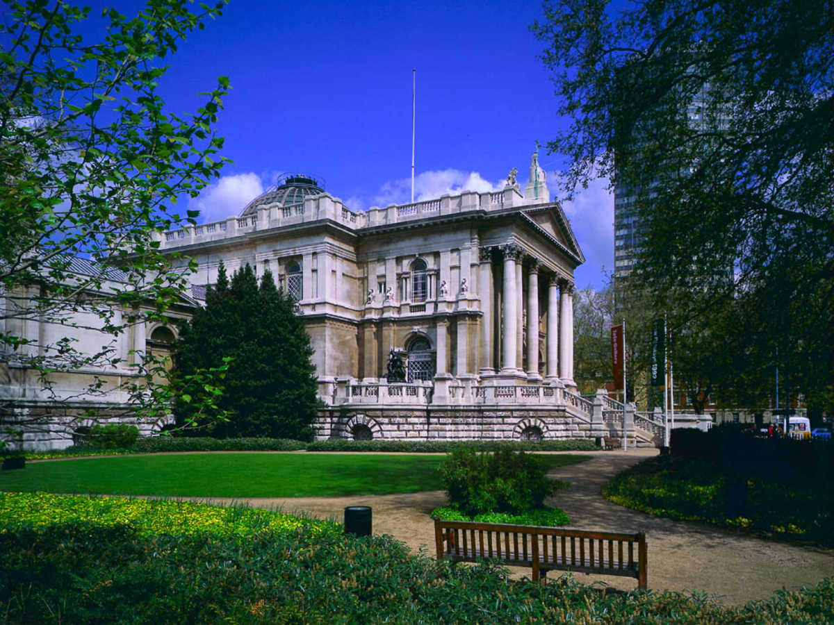 Tate Britain, the gallery from Millbank approach paid for with the proceeds from sugar