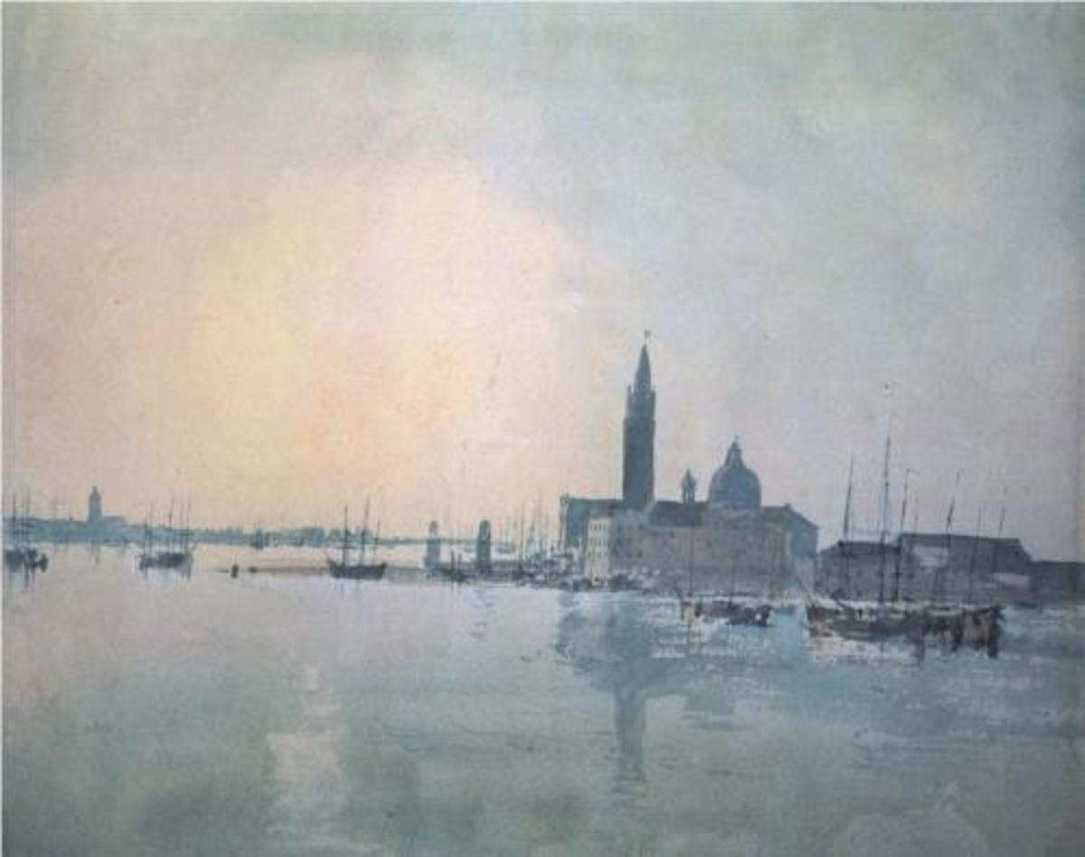 ...and in the early light of dawn. Painted in 1819 during his first visit to Venice