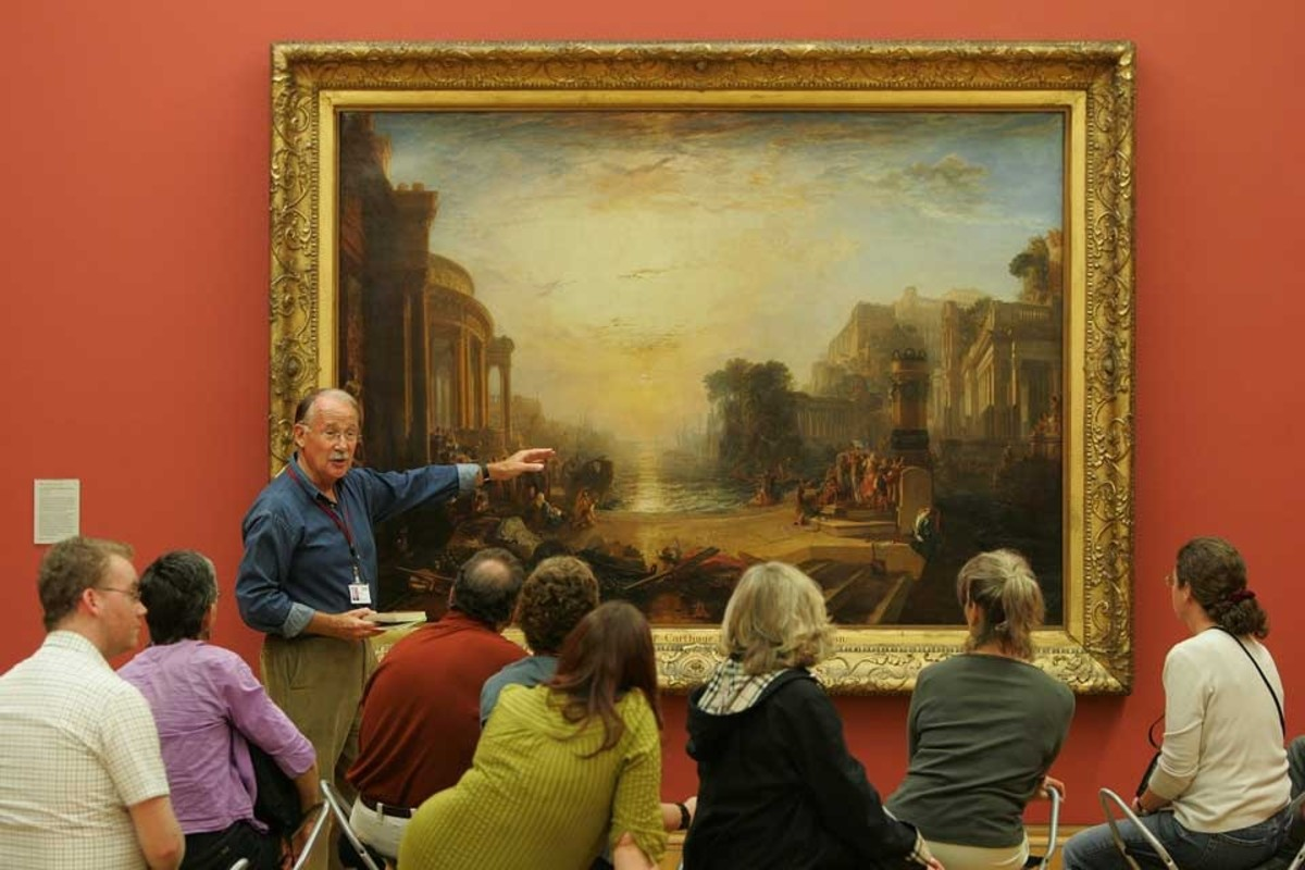 A group visit under guidance by one of Turner's Venice paintings