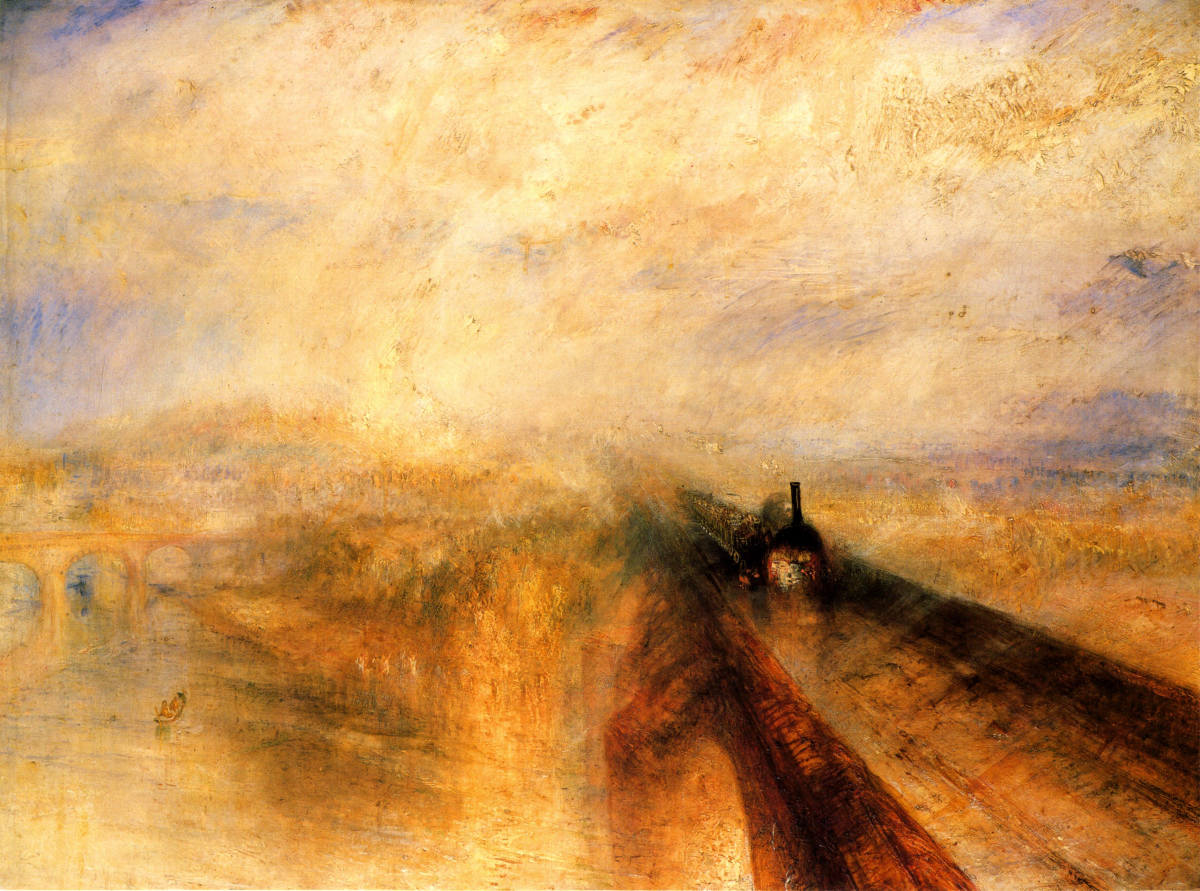 'Rain, Steam and Speed on the Great Western Railway', archetypal Turner, a hint of the Impressionist Movement?