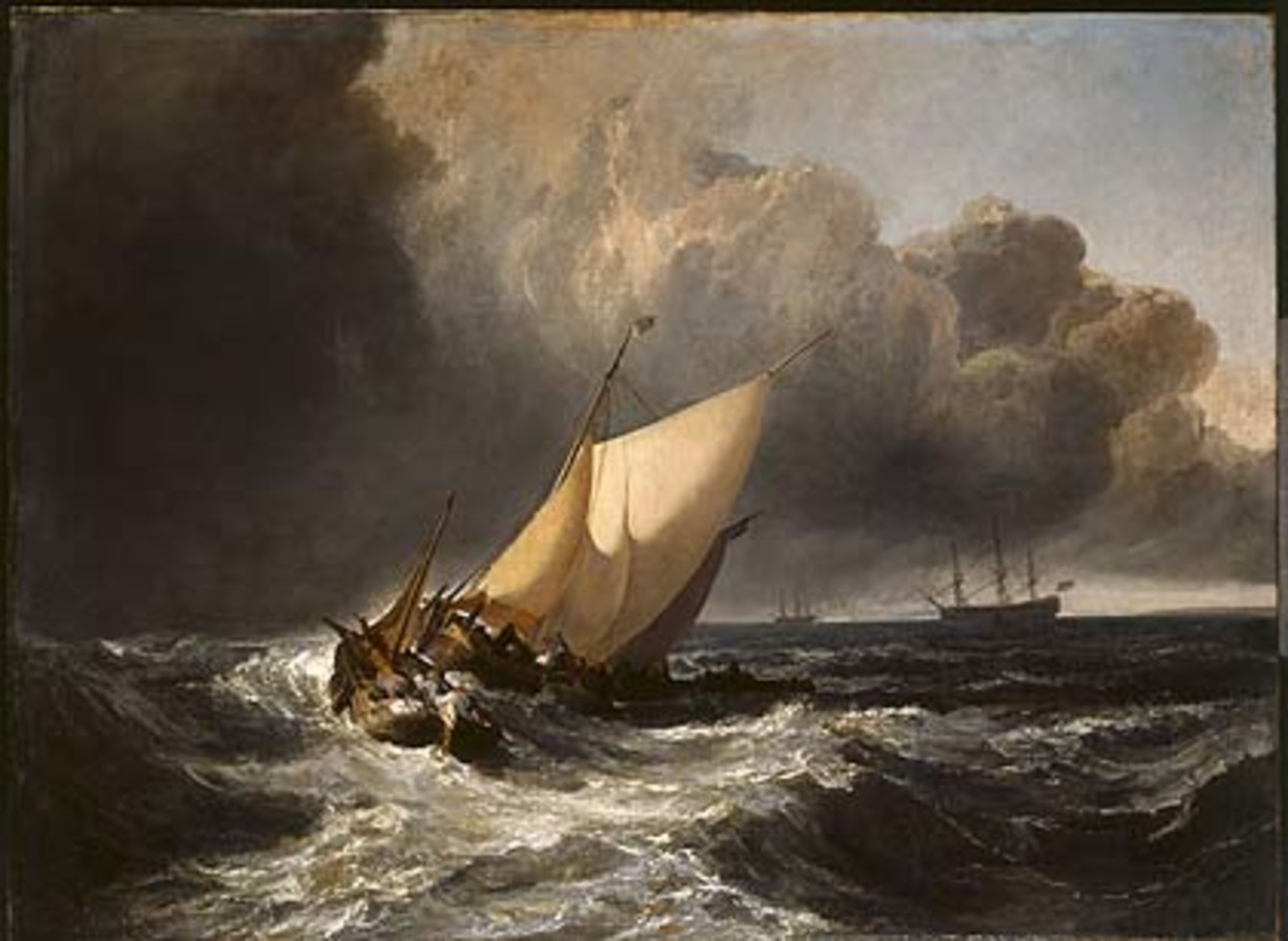 'Dutch Boats in a Gale', one of many of Turner's storm-inspired seascapes