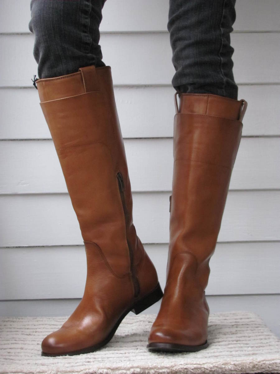 frye skinny calf boots