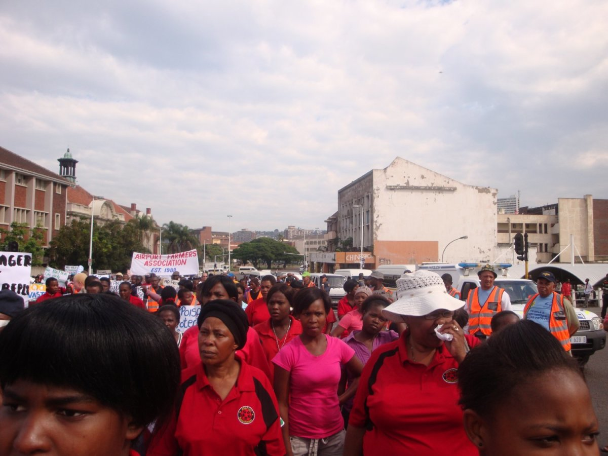 "Abahlali basMjondol March on ""Unfreedom Day March, Durban, 27 April 2012"