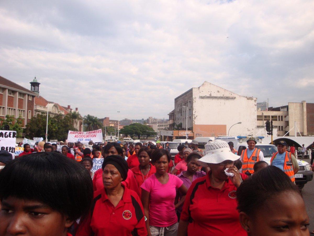 """Abahlali basMjondol March on """"Unfreedom Day March, Durban, 27 April 2012"""