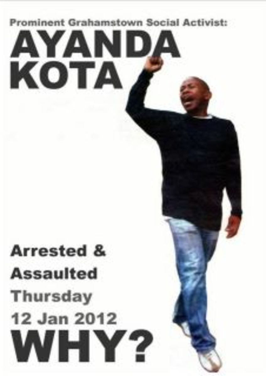 The government's Assault on the Poor is Ongoing and intensifying as in the case of Ayanda Kota who has been Arrested,tortured, assaulted