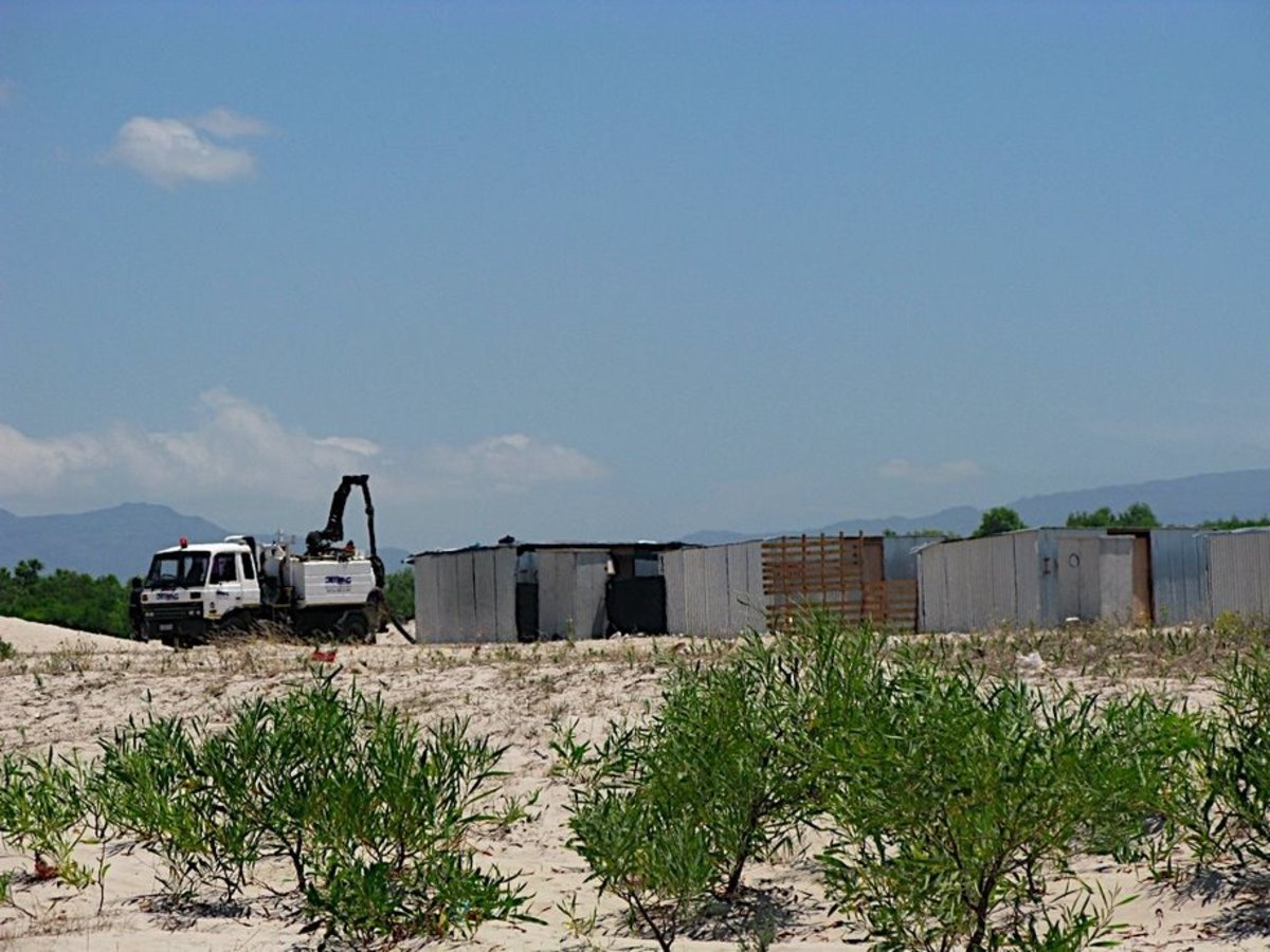 A view of these tin shacks being line-up for the dwelling of the poor