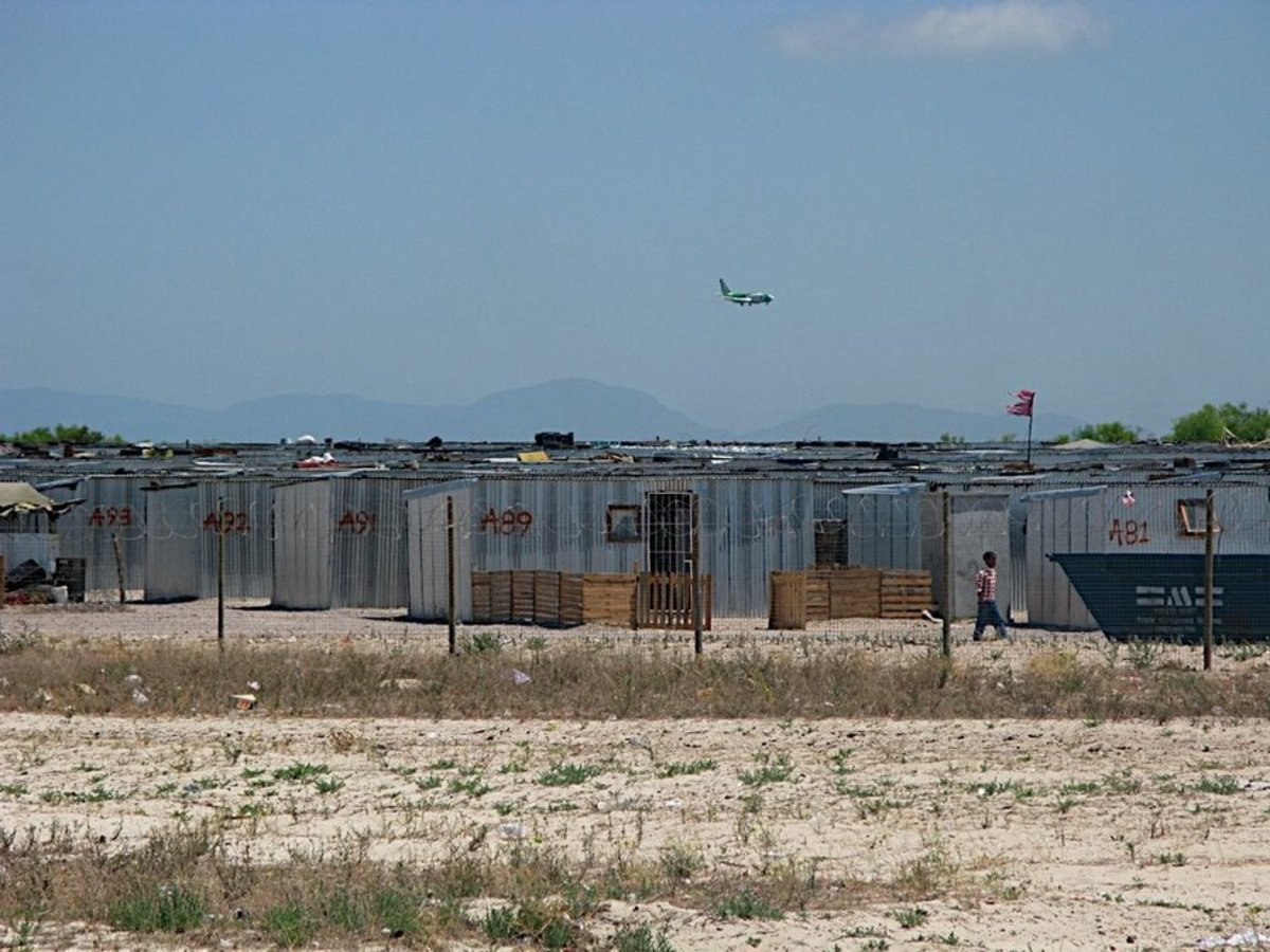 These are some of the Shacks as they were being set up to house(incarcerate) poor people inside