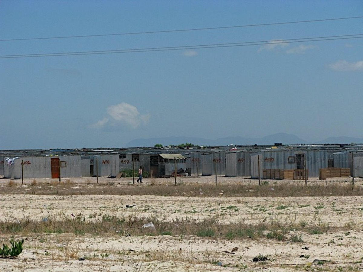 A view of the Tin Shacks being developed