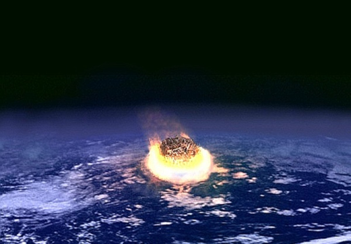 65 million years ago, a giant asteroid crashed into the Gulf of Mexico to end the Mesozoic era and wipe out the giant reptiles that dominated the Earth for over 100 million years.