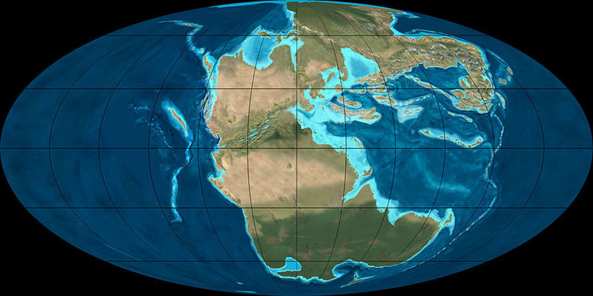 During the early Triassic, all of the Earth's continents were still joined up, forming a supercontinent called Pangea.