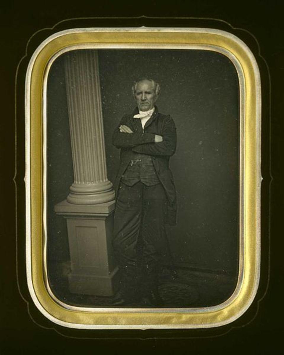 Daguerreotype of Sam Houston from the Museum of Fine Arts Houston