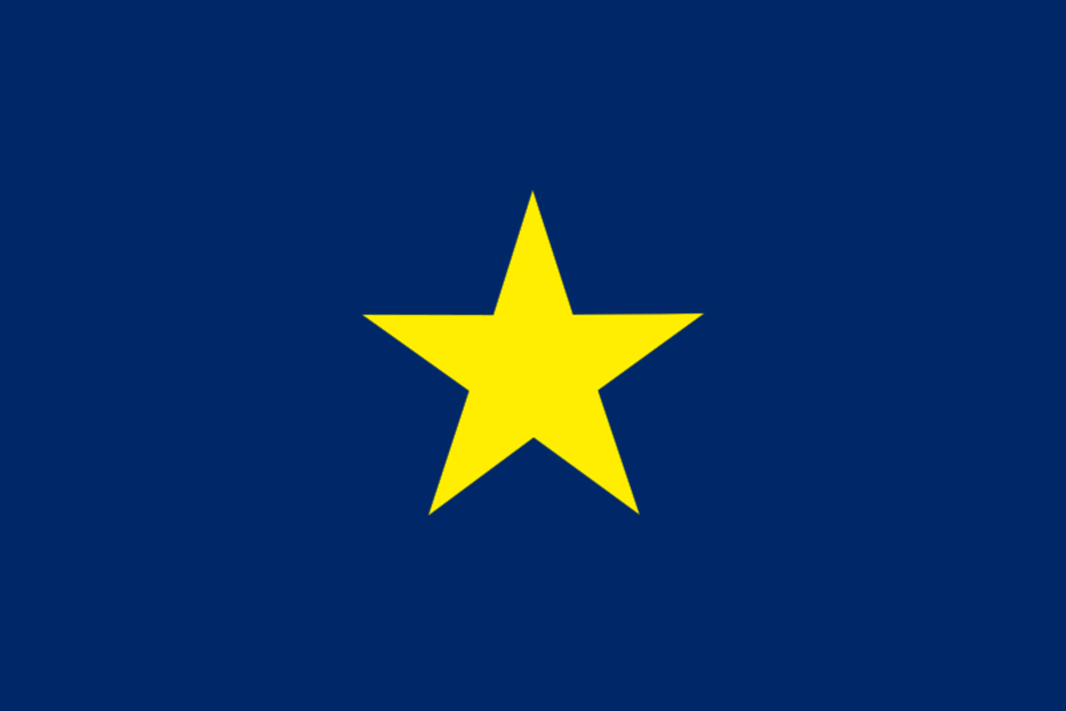 First flag of the Republic of Texas