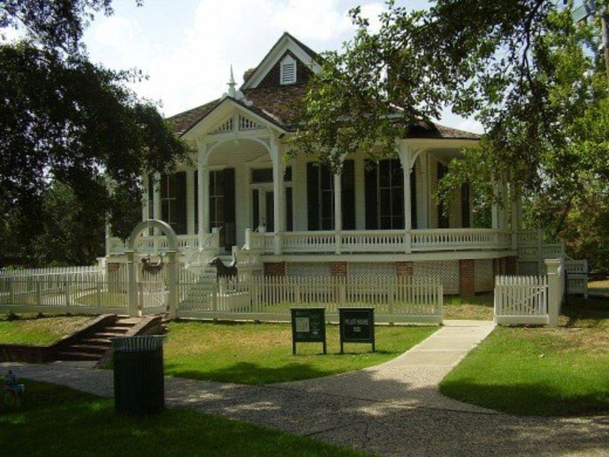 Pillot House - 1868 - in Sam Houston Park, Houston, TX