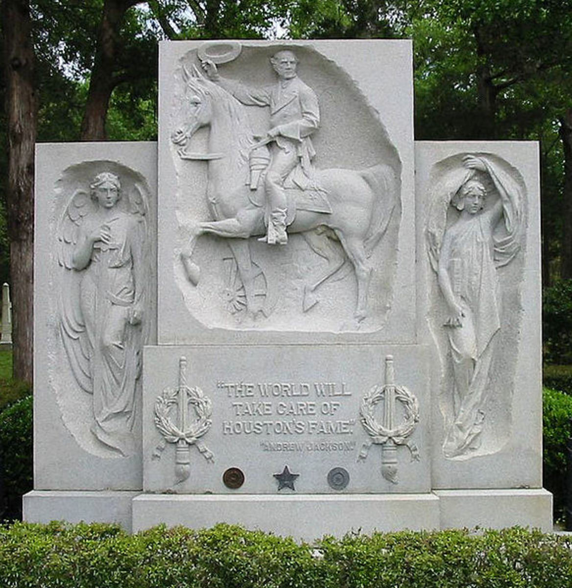 Sam Houston grave monument in Huntsville, Texas