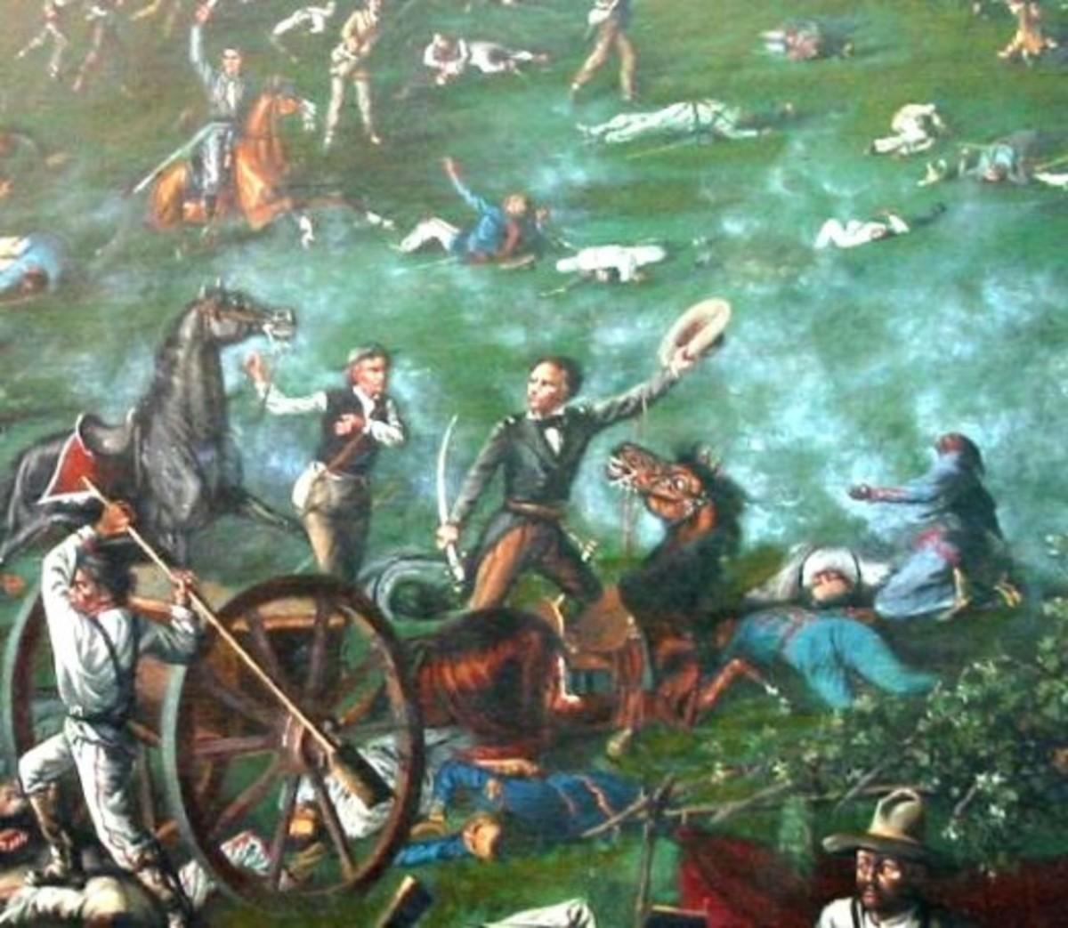 Sam Houston at the Battle of San Jacinto