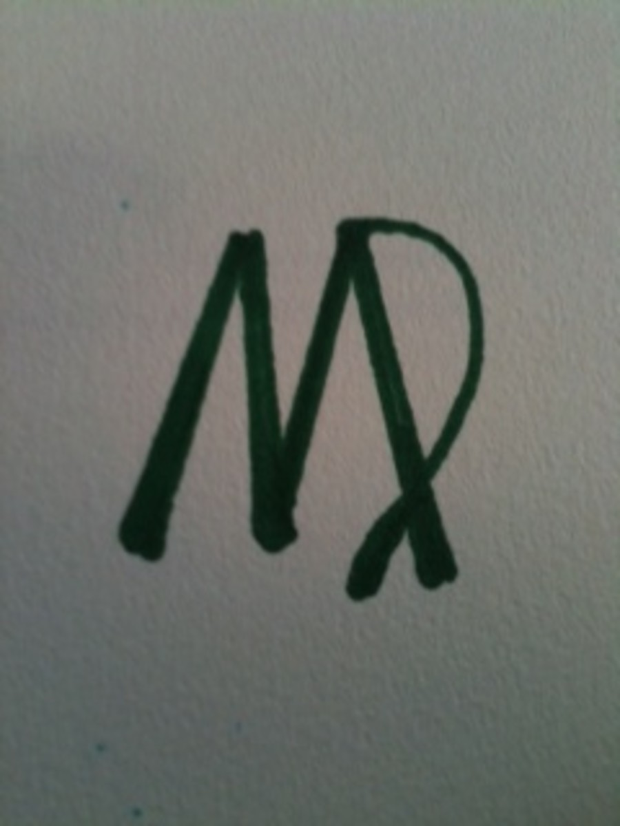 The symbol for Virgo