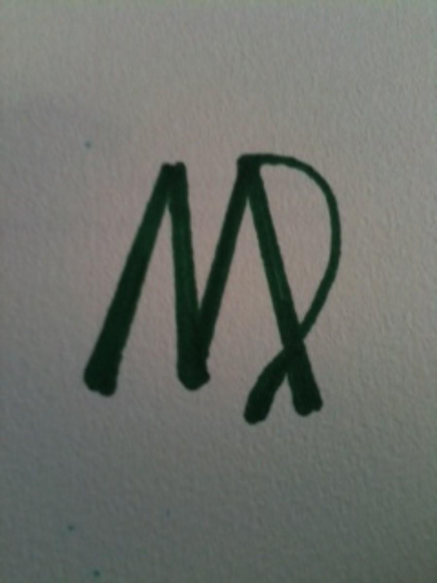 The symbol for Virgo