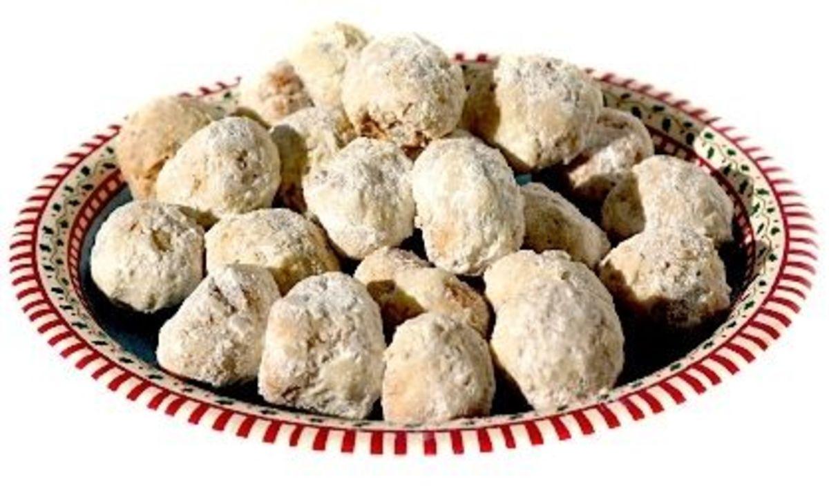Snowball Shaped Greek Wedding Cookies