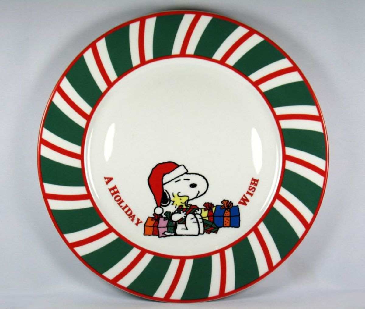 Snoopy Christmas Plate