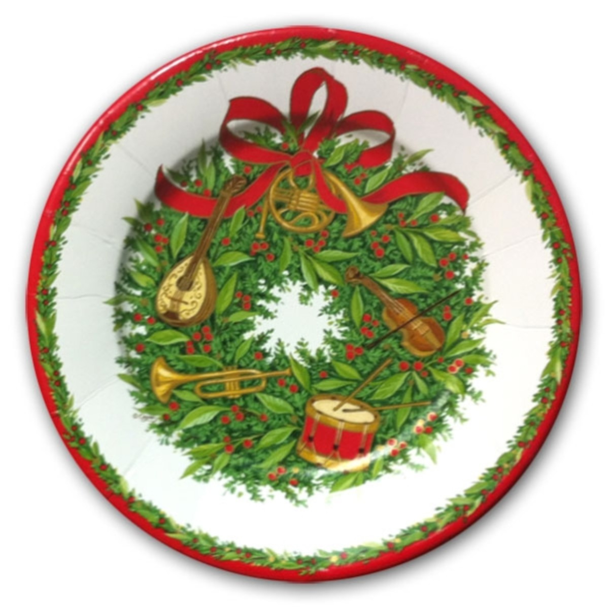 Wreath Christmas Dinner Plate