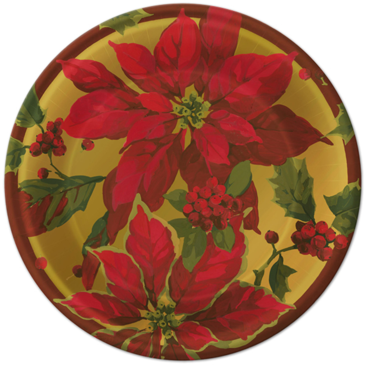 Poinsettia Dinner Plate