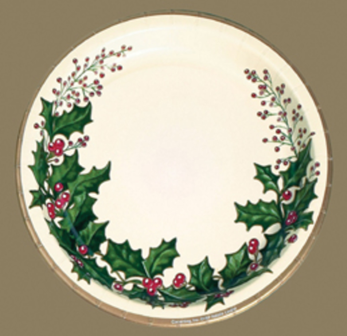 Holly Christmas Dinner Plate