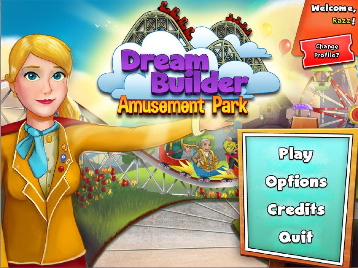 Dream Builder: Amusement Park main menu