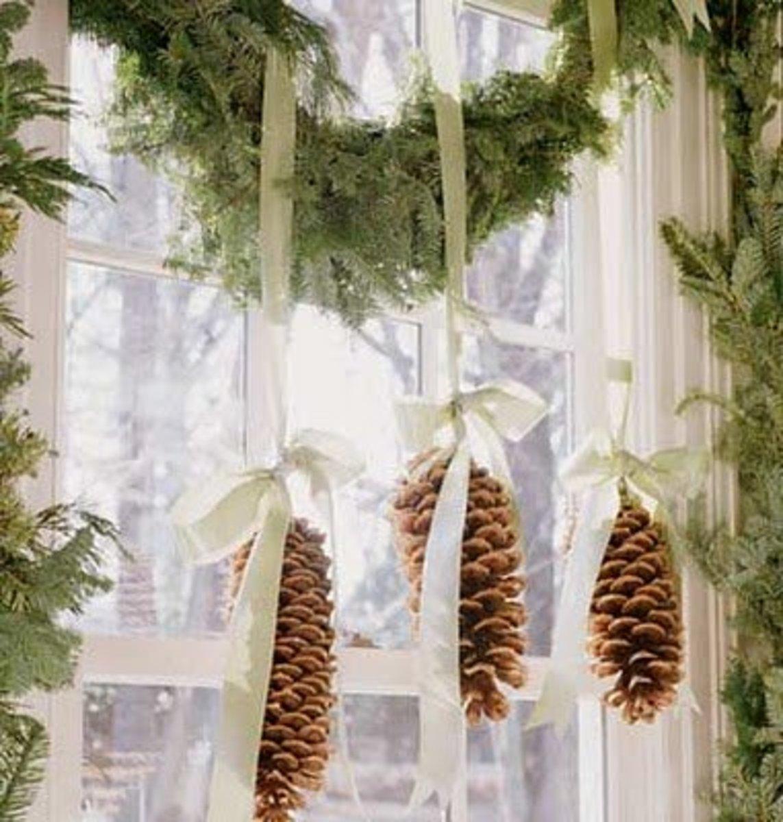 pretty hanging pine cones