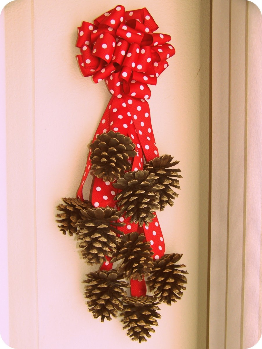 cute pine cone wall hanging