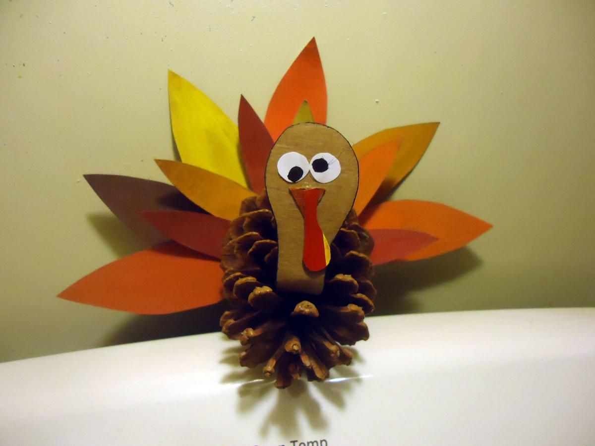 cute pine cone turkey