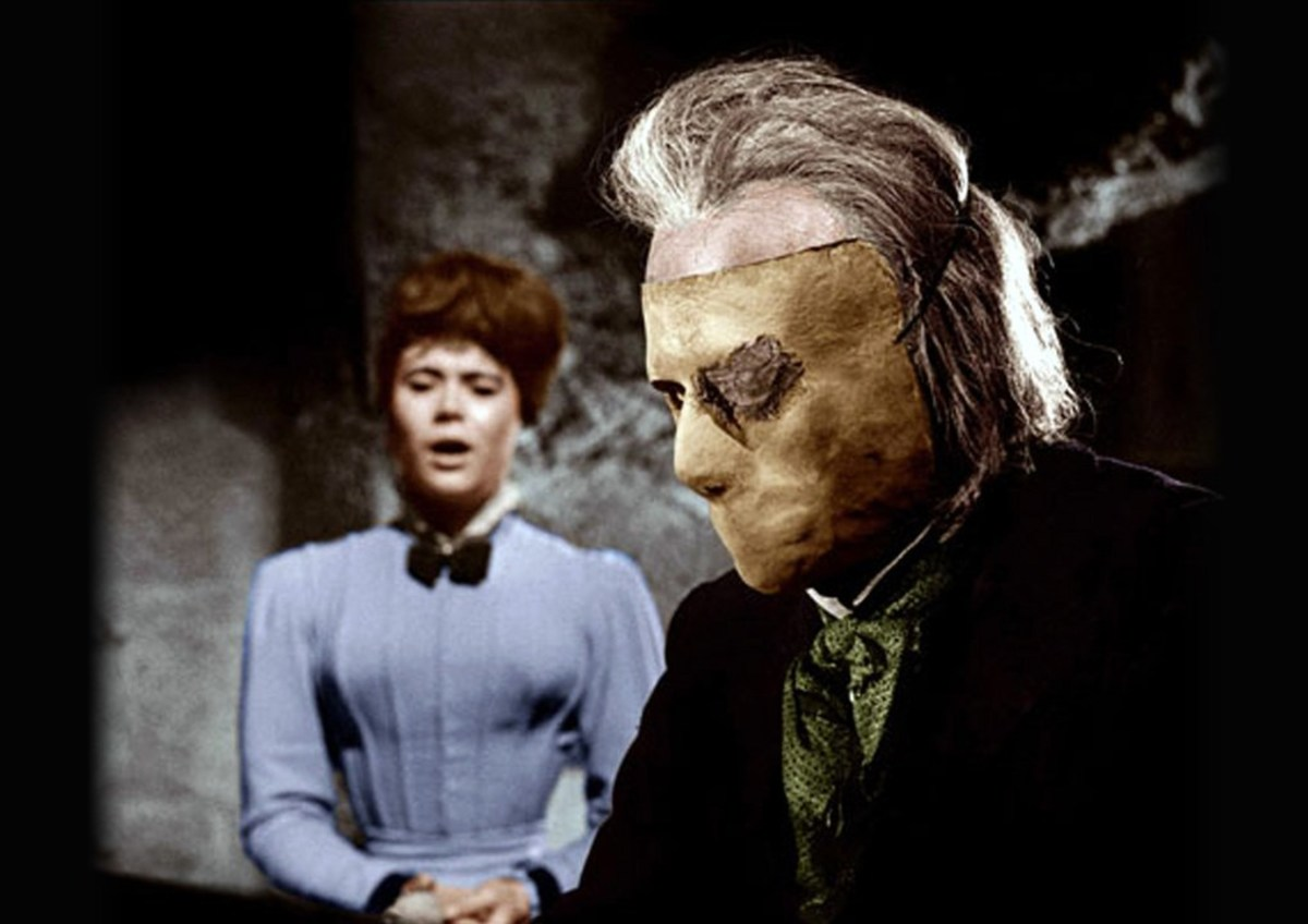Heather Sears and Herbert Lom in The Phantom of the Opera (1962)