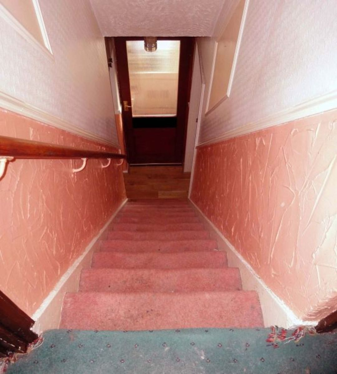 Original stairs with carpet