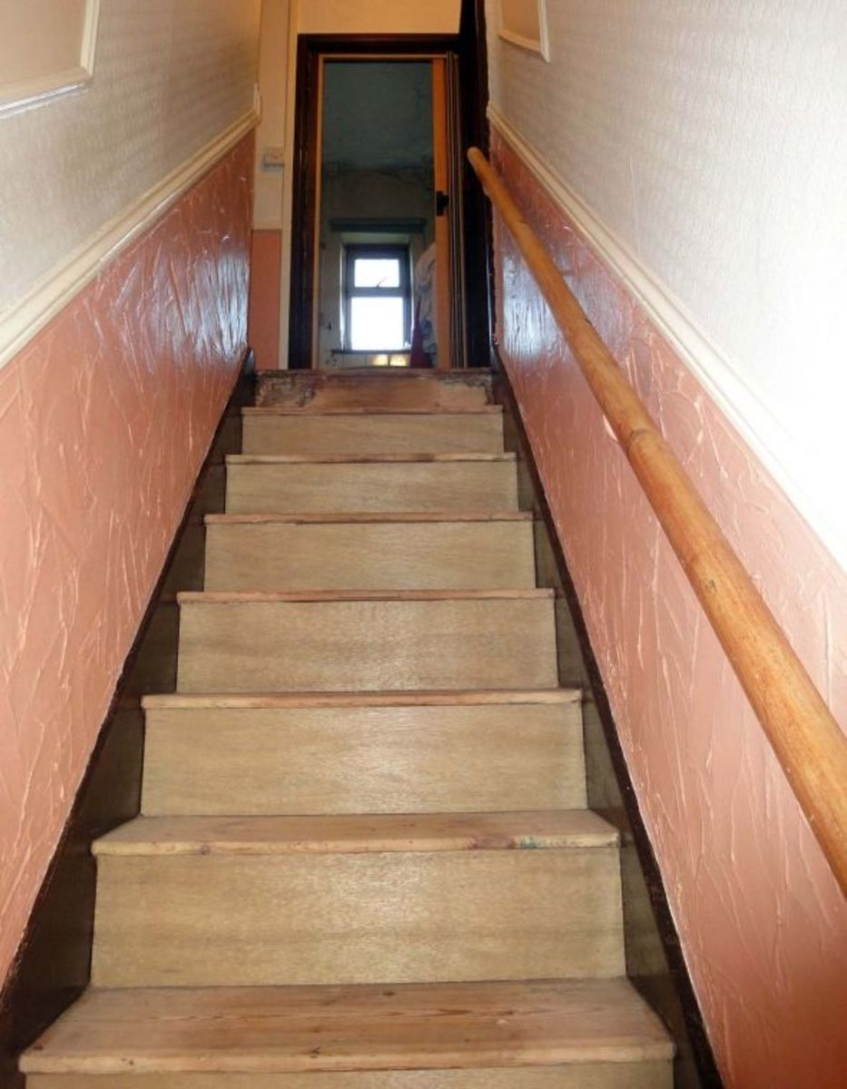 Remodelled wooden stairs