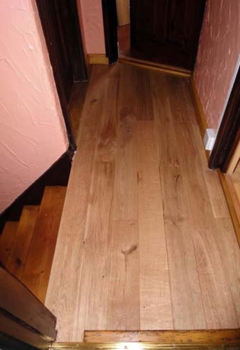 New oak floor on Landing