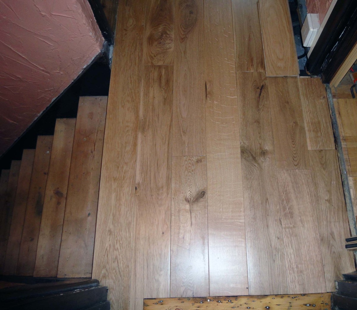 Remodelling Stairs And Replacing Pine Floorboards With Oak